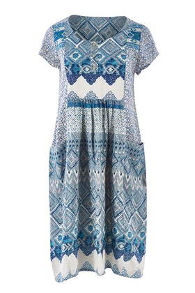 Orientique Leon Print Dress