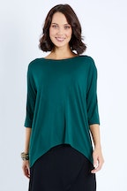 Whispers Relaxed High Low Bamboo Top
