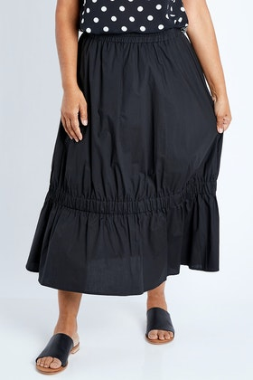 Clarity By Threadz Gathered Pull On Skirt