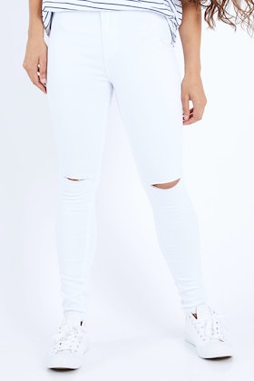Wakee Jeans Lucy Ripped Knee High Rise Jean