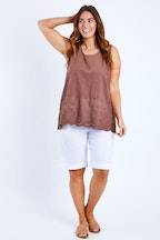 Cordelia St Embroidered Shell Tank