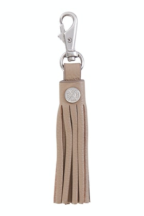 Stitch and Hide Leather Tassel Keyring