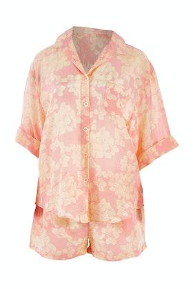 Papinelle Cotton Silk Hydrangea Boxer PJ Set